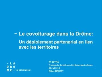 Le covoiturage dans la Drôme (CG26) - CoTITA