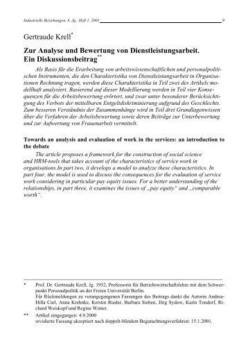 Zur Analyse und Bewertung von ... - Rainer Hampp Verlag