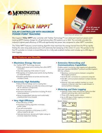 Morningstar -TriStar MPPT Controller - Matrix Energy