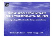 Quesiti - 4 maggio 2010 - Confindustria Genova
