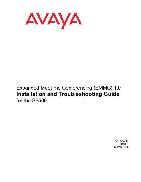 Expanded Meet-me Conferencing (EMMC) 1 0     - Avaya Support