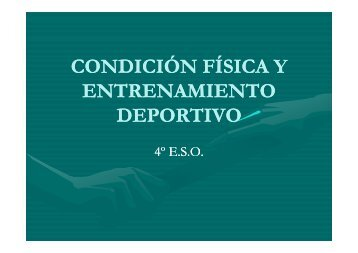 Condición Física y Entrenamiento Deportivo