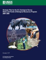 Strategic Plan for the US Geological Survey Status and Trends - USGS
