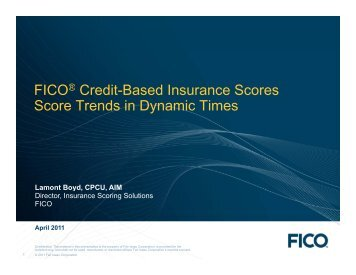 Predictive Modeling & Credit-Based Insurance Scores