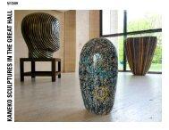 kaneko sculptures in the great hall - Sheldon Museum of Art
