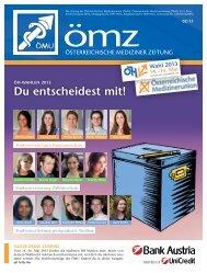 Nr. 2/2013 - Österreichische Medizinerunion (ÖMU)
