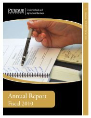 View the annual report (pdf). - Department of Agricultural Economics ...