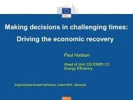 ENERGY EFFICIENCY DIRECTIVE - COGEN Europe