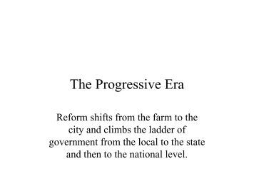 A review of the progressive era
