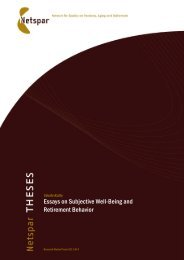 Essays on Subjective Well-Being and Retirement Behavior