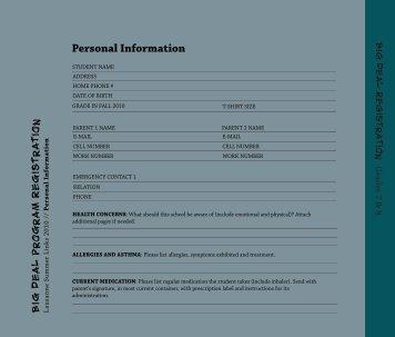 Personal Information - Lausanne Collegiate School