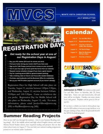 calendar - Monte Vista Christian School