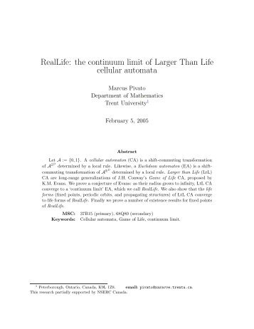 RealLife: the continuum limit of Larger Than Life cellular automata