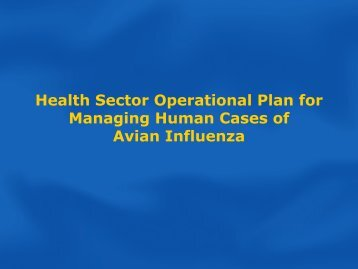 Health Sector Operational Plan for Managing Human Avian ...