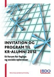 INVITATION Og prOgrAm TIL Kr-ALUmNI 2012 - BDO