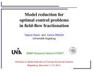 Model reduction for optimal control problems in field-flow fractionation