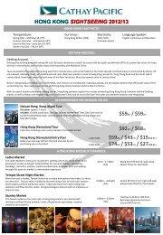 $59AD / $59CH $92AD / $68CH HONG KONG SIGHTSEEING 2012 ...