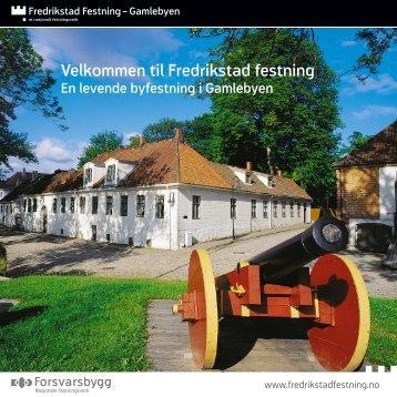 Informasjonsbrosjyre, Fredrikstad festning - Forsvarsbygg