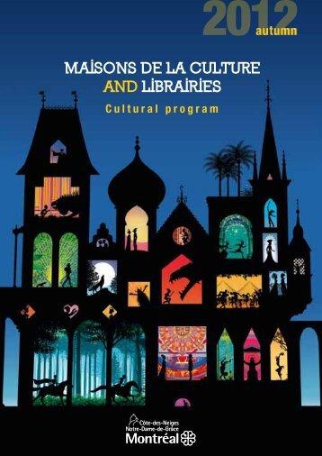 MAISONS DE LA CULTURE AND LIBRAIRIES - Accès Culture