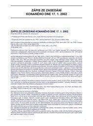 ZÁPIS ZE ZASEDÁNÍ KONANÉHO DNE 17. 1. 2002