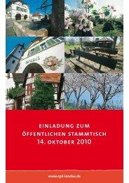 einladung zum öffentlichen stammtisch 14. oktober 2010