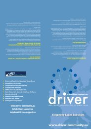 DRIVER FAQ leaflet