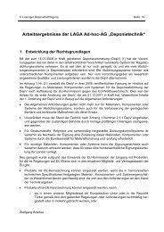 "Arbeitsergebnisse der LAGA Ad-hoc-AG ""Deponietechnik"""