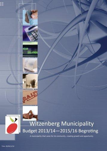 Budget - 2013/2014 - Witzenberg Municipality