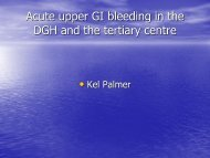 Acute GI haemorrhage in the DGH and tertiary centre