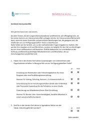 Formblatt Interessenskonflikt - Lungeninformationsdienst