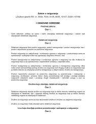 Zakon o osiguranju - Agencija za osiguranje depozita