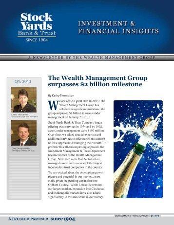 The Wealth Management Group surpasses $2 billion ... - PrecisionIR