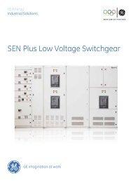SEN Plus Low Voltage Switchgear - GE Industrial Systems