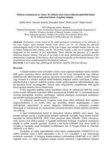 PDF: 4. folia 2009 - MTA Régészeti Intézet - Magyar Tudományos ...