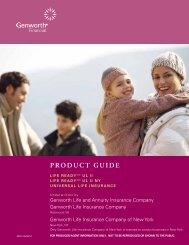 Genworth Life Ready UL Product Guide - A Plus Marketing