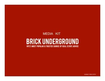 Download our Media Kit - BrickUnderground