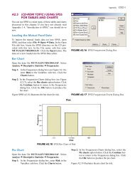 A2.3 (CD-ROM TOPIC) USING SPSS FOR TABLES AND CHARTS