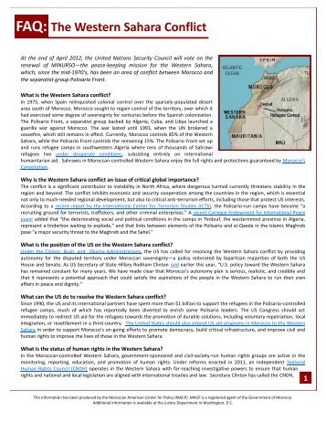 FAQ: The Western Sahara Conflict - Morocco On The Move