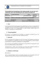 Omzendbrief met betrekking tot de implementatie van de wet ... - FAVV