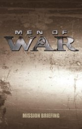 Men of War manual - Now Available