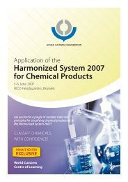 Harmonized System 2007 for Chemical Products