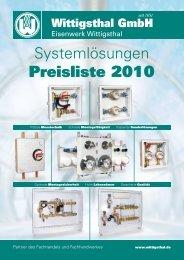 Systemlösungen Preisliste 2010