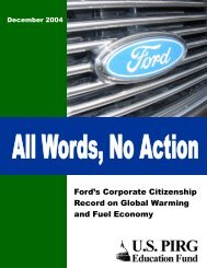 Ford's Corporate Citizenship Record on Global Warming and Fuel ...