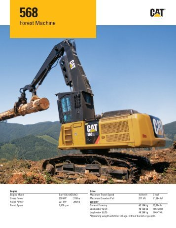 Specalog for 568 Forest Machine AEHQ6269-00