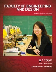 FACULTY OF engineering And design - Carleton University