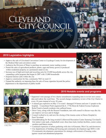 2010 Annual Report (pdf) - Cleveland City Council