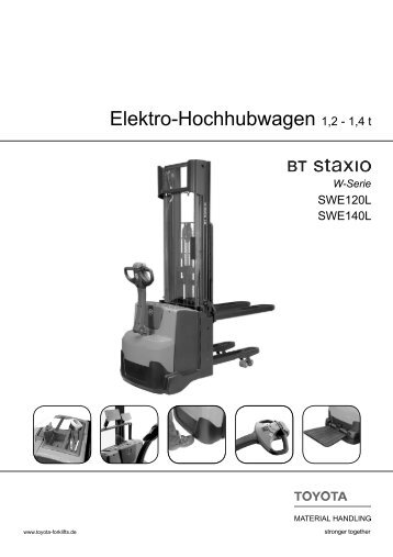 Elektro-Hochhubwagen Staxio SWE120L 140L - Toyota Material ...