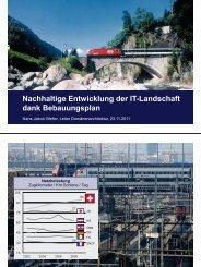 Nachhaltige Entwicklung der IT-Landschaft dank Bebauungsplan