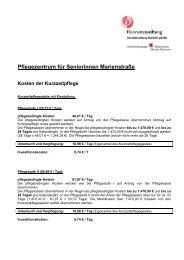 Pflegezentrum für Seniorinnen Marienstraße - Henriettenstiftung ...
