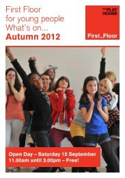 First Floor What's On - West Yorkshire Playhouse